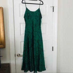 Vintage Green Velvet Slip Dress